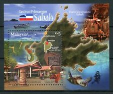 Malaysia 2018 MNH Tourism Sabah 1v M/S Turtles Diving Boats Architecture Stamps