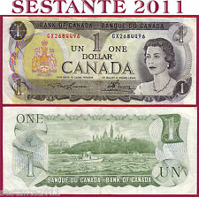 CANADA 1 DOLLAR 1973 - P 85a Tipe 1 ( 2 letters serial first issue ) - BB+ / VF