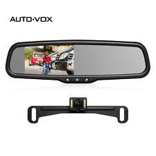 """Auto-Vox Car Rear View Backup Camera Kit Night Vision + 4.3"""" LCD Mirror Monitor"""