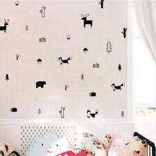 Animal Forest Wall Decals Woodland Nursery Art Stickers Decor LG