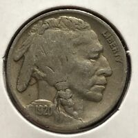 USA 1920 Buffalo Nickel 5 Cent Philadelphia Gute Erhaltung Selten #11058