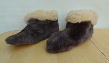 Vintage 50's 60's Genuine Fur Slippers Suede Bottom Size 10 Unworn