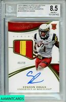 🏈2015 IMMACULATE COLL. Stefon Diggs #338 COLLIGATE MULTISPORT RC/99 RPA BGS 8.5