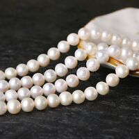 "Wholesale Lots Genuine Natural White Freshwater Pearl Loose Beads Strand 15"" AAA"