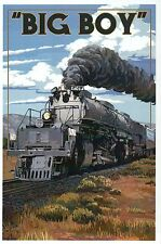 Big Boy Locomotive Union Pacific Railroad, Train, Engine 4014 -- Modern Postcard