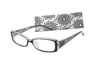 ICU Eyewear SAUSALITO Reading Glasses RHINESTONES BLACK 1.25 1.75 2.00 2.50 3.00