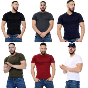 6X Pack Men's Plain T Shirts Cotton Short Sleeves Tee Crew Neck Top Shirt Tee