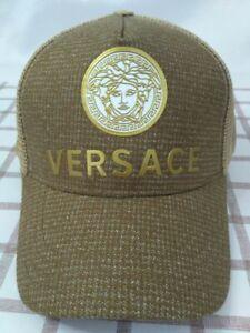 Versace Baseball Sport Hat Adjustable Brown Cap Unisex