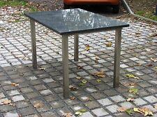 Terrassentisch Küchentisch Gartentisch Untergestell Edelstahl + Platte Granit