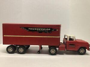 Tonka Thunderbird Express Semi and Trailer, Red Version, Vintage 1959