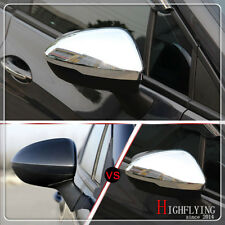 For Opel/Vauxhall Insignia 2017 2018 ABS Chrome Car Rearview Mirror Trim Cover