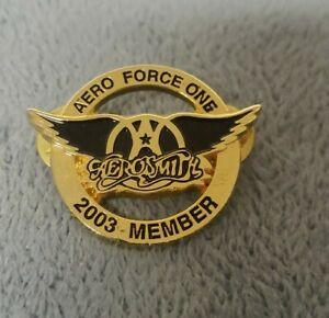 Aerosmith 2003 Aero Force One  Hat/ Lapel Pin Badge Steven Tyler