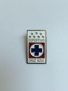 PIN CRUZ AZUL MEXICO FUTBOL SOCCER TEAM 8 STARS WHITE RECTANGLE (SHARP EDGE)