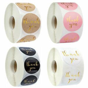 Thank you Round Foil Stickers Wedding, Invitations, Birthday, Present Label