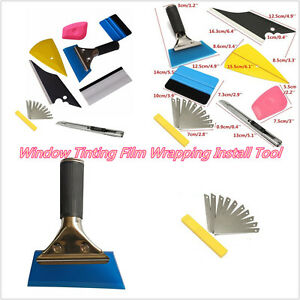 8 X DIY Car Automobile Window Tinting Film Wrapping Install Applicator Tool Kit