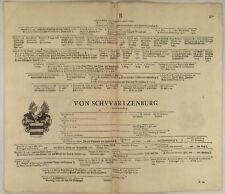 von SCHWARZENBURG Orig Stammbaum 1707 Genealogie Ritter Adel von SCHARFENSTEIN