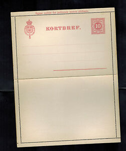 mint sweden postal stationery post card 10 Tio Ore PS