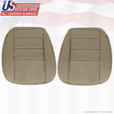 2009 Ford F350 Lariat Driver & Passenger Bottom Leather Seat Cover Stone Gray 4S