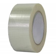 More details for cross weave fibreglass reinforced filament tape heavy duty packing 4 x rolls