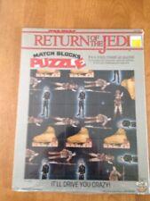Vintage 1983 Star Wars Return Of The Jedi Match Blocks Puzzle Craftmaster Sealed