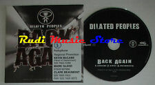 CD Singolo DILATED PEOPLES Back again 2005 PROMO CAPITOL 094634078924(S2) mc dvd