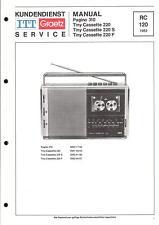 ITT/Graetz Original Service Manual für Pagino 310  Tiny Cassette 220/S/F
