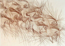"""Guillaume Azoulay """"Le Mouvement""""horse Hand Signed Fine Art Etching MAKE OFFER!"""