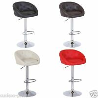 NEW DESIGN Mars PU Swivel Faux Leather Breakfast Kitchen Bar Stools Pub Barstool