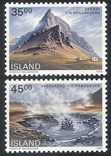 Iceland 1989 Landscapes/Spring/Geyser/Volcano/Mountains 2v set (n27455)