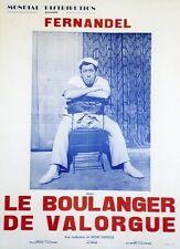 """""""LE BOULANGER DE VALORGUE"""" Affiche entoilée offset  (Henri VERNEUIL / FERNANDEL)"""