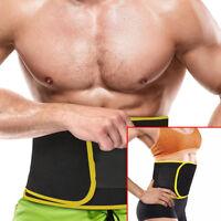 Waist Trimmer Belt Sweat Band Wrap AB Stomach Weight Loss Burner For Men & Women