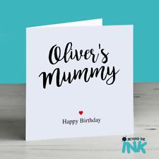 Cartolina di Compleanno per la mamma-carta personalizzata per la mamma-Mummia-MAM-MAMMA