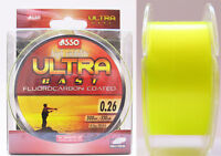 Asso Ultra Cast Coated Fluorocarbon Fishing Line 300 m Spools Yellow All Sizes