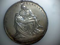 "1964 ""Pieta by Michelangelo"" 925 Sterling Silver Medallion by Towe/Medallic Art"