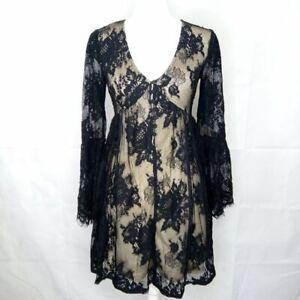 Xhilaration Lace Dress Size S Sheer Lace Sleeve