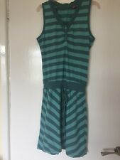 Esprit XS Green Striped Beech Dress With Drawstring Waist