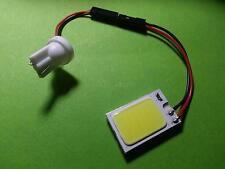 1x PANEL T10 W5W 27x18 WHITE COB LED 12V LAMP CAR AUTO BLANCO  PLAFON MATRICULA