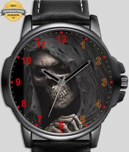 Gothic Shadow Of Grim Reaper Art Unique Wrist Watch FAST UK