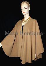 Moca Cape Ruana Wrap Coat Cashmere Wool Blend by Maya Boutique Made in USA