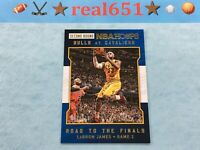 2015 NBA Hoops Road to Finals #48 LeBRON JAMES /999 Second Round   Cavs Lakers