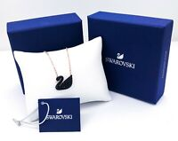 New Authentic Swarovski Rose Gold Sparkle Crystal Iconic Swan Pendant Necklace