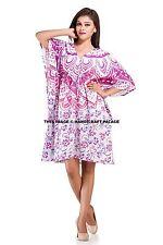 Women V-neck Mandala Kimono Caftan Loose Maxi Dress Kaftan Plus Size Indian Robe