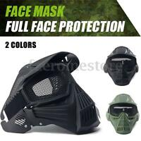 Tactical Airsoft Full Face Protection Mask Outdoor Paintball Cosplay Metal Mesh