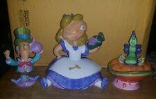 Rare Disney Alice in Wonderland teapot, creamer and sugar set Mib #C75 Rare