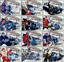 1996-97 PINNACLE SUMMIT IN THE CREASE INSERT CARDS - PICK SINGLES - FINISH SET