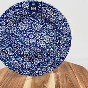 """Royal Wessex China Made In England CALICO BLUE DINNER Plates 10 """""""