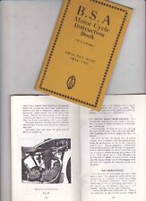 1935 BSA 2.49 HP OHV DE LUXE and 3.48 HP OHV  Reprint Instruction Manual