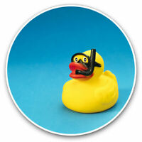 2 x Vinyl Stickers 7.5cm - Fun Scuba Diving Rubber Duck Cool Gift #3923