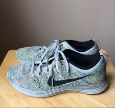 Nike Women Lunarlon Flyknit Lunar Athletic Shoes Sneakers 9, Pre-owned