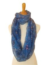 Bird&Floral Light Weight X-large Infinity Scarf Loop Cowl